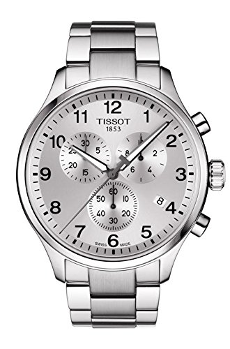 - Tissot Men's Chronograph Stainless Steel Silver Dial Chrono XL Watch T1166171103700