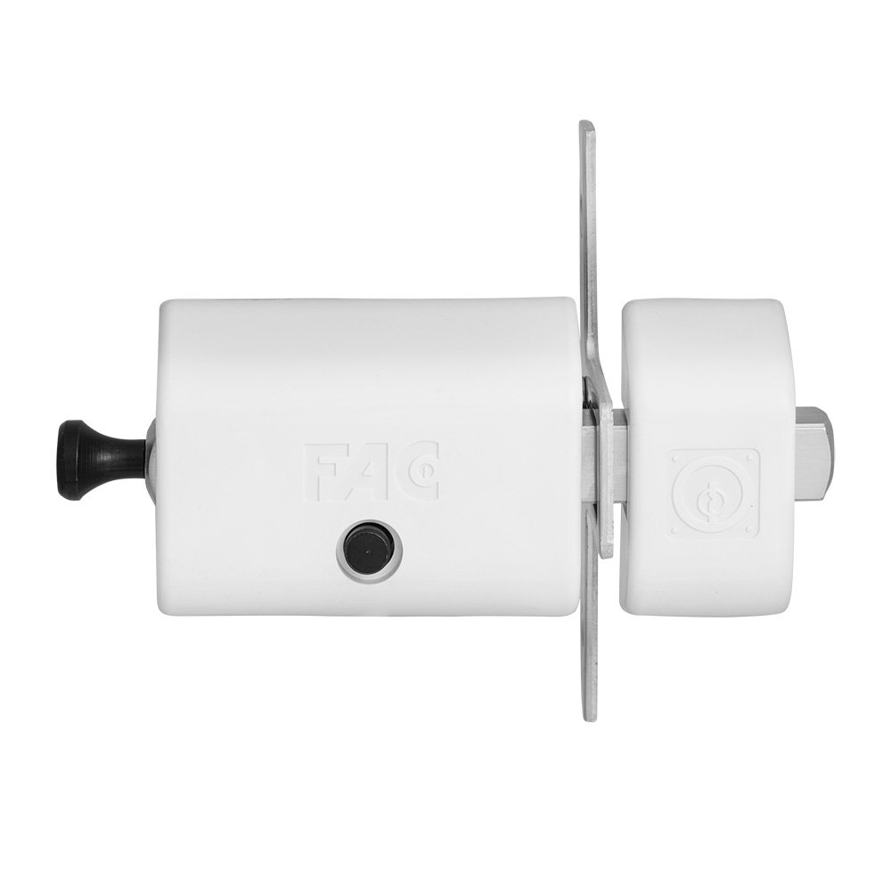 FAC 446-RP/80 - Cerrojo MAGNET UVE, acabado blanco: Amazon.es: Bricolaje y herramientas