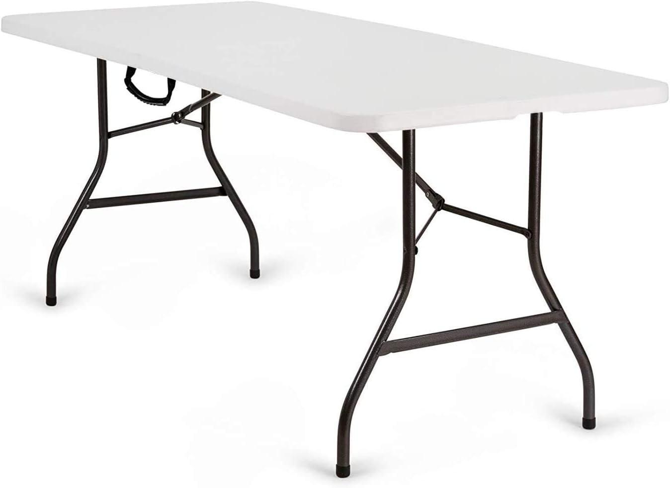 Nestling® Mesa plegable de jardín, color blanco, perfecta ...