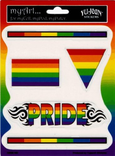Square Deal Recordings and Supplies Gay Pride Rainbow 5 Pack of Stickers/Decals - 5 Separate Stickers! - Sticker/Decal
