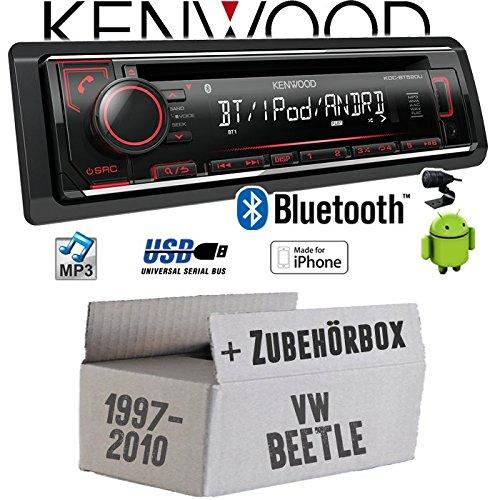 VW Beetle 1 9C - Autoradio Radio Kenwood KDC-BT520U - Bluetooth CD/MP3/USB - Einbauzubehö r - Einbauset JUST SOUND best choice for caraudio VWBe1_KDC-BT520U