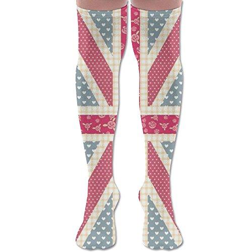 Womens Love Streaks Socks 3D Printing Long Knee High Socks Stockings (Vintage Streak Fashion)