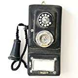 Jeteven Antique Phone Vintage Decorative Telephones Retro Phone Wall Hanging Vintage Decorative Telephones 175x80x40mm