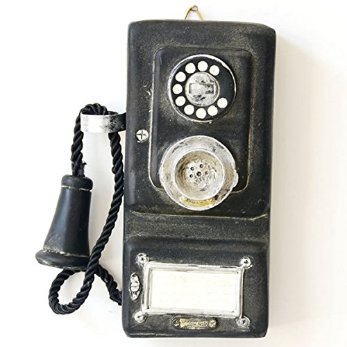 Jeteven Antique Phone Vintage Decorative Telephones Retro Phone Wall Hanging Vintage Decorative Telephones 175x80x40mm