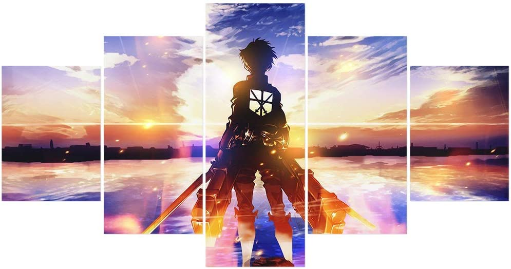 Jackethings Japanese Anime Attack On Titan Poster Prints on Canvas Unframed Wall Art for Home Living Room Bedroom for Anime Enthusiast