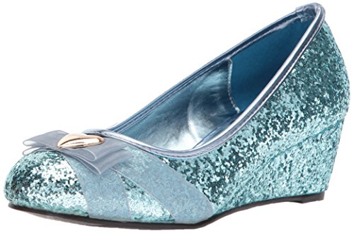 Ellie Shoes Womens 018-Princess Wedge Pump Blue