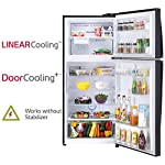 LG 437 L 3 Star with Inverter and Wi-Fi Double Door Refrigerator (GL-T432FES3, Ebony Sheen)