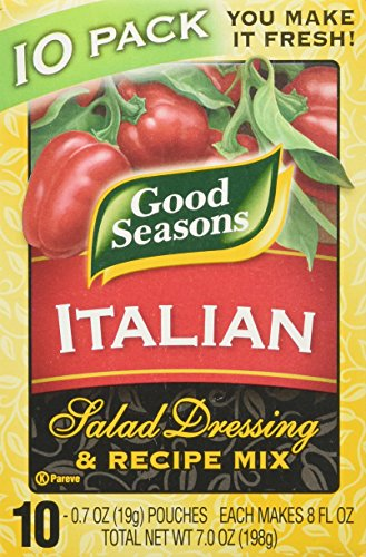 Mix Dressing (Good Seasons Italian Salad Dressing & Recipe Mix 0.7oz, 10 Pouches)