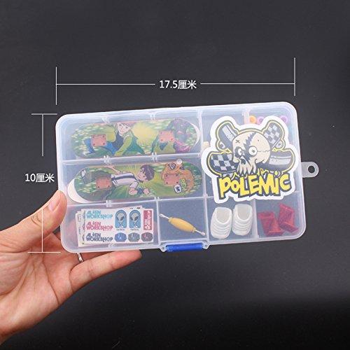 Fanci ABS Finger Skateboard Set Double Rocker DIY Mini Finger Boarding Toy with Storage Box by Fanci (Image #2)