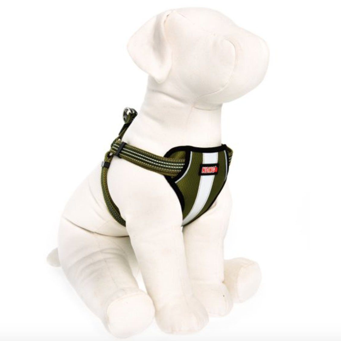 KONG Comfort Padded Reflective Chest Plate Dog Harness by Barker Brands Inc. (Medium, Green) by KONG