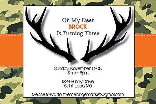 Customized - Oh My Deer - Birthday Invitation