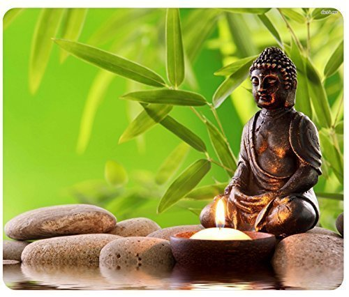 1 X Stone Statue Buddha Zen Mousepad,Custom Rectangular Mouse - Pad Mouse Buddha