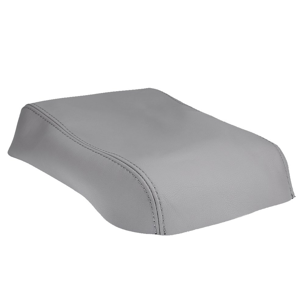 QKPARTS Armrest Center Console Leather Synthetic Cover for Toyota Highlander Gray 4350410584