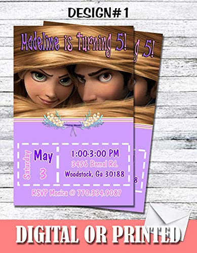 Princess Rapunzel Tangled Personalized Birthday Invitations More Designs inside! -