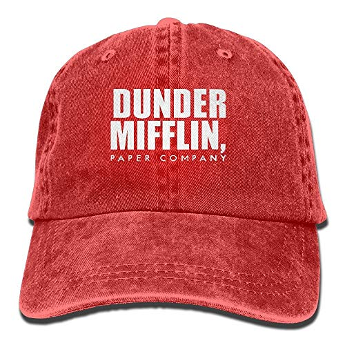 - Dr-Drin SDQQ6 Dunder Mifflin Adult Cowboy Hat Baseball Cap Adjustable Athletic Customized New Hat for Men and Women Red
