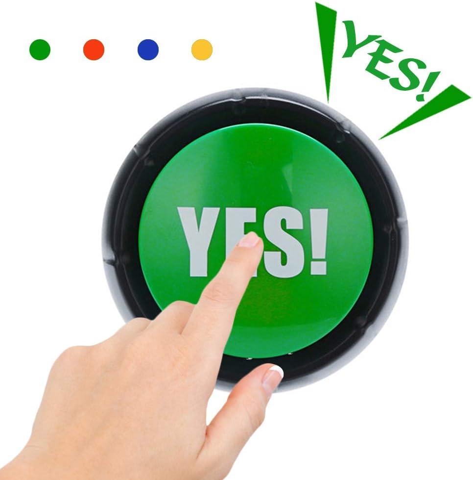 Volbaby Lot de 4 boutons /« Yes No may Sorry /» pour enfants /âg/és de 3 ans et plus.