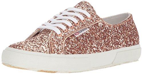 Superga Women 2750 Macroglitter Sneaker Gold Glitter