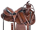 AceRugs Western GAITED Horse Saddle TACK Set Premium Hand Carved Leather Comfy Padded SEAT Pleasure Trail