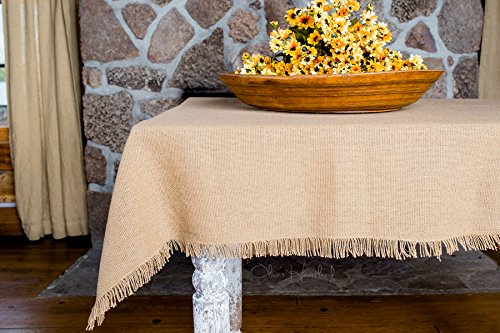 Deluxe Burlap Natural Tan Table Topper Tablecloth 40x40