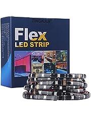 Tingkam® 5m 16.4ft RGB LED Strip Kit Waterproof IP68 Flexible Rope Light for Outdoor Underwater Lighting Decoration
