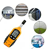 Preciva Digital Psychrometer Thermo-Hygrometer, LCD Mini Temperature and Humidity Meter with Dew Point and Wet Bulb Temperature Hygrometer for Industry, Agriculture, Meteorology