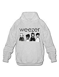 MYsunn Men's Rock Music Weezer Hooded Sweatshirt