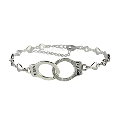 amazon com wushimaoyi handcuffs bracelet jewellry silver handcuffs