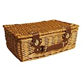 Wald Imports 0499 13-Inch Wicker Picnic Basket, Brown