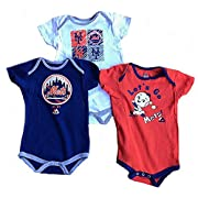New York Mets Baby / Infant Go Team 3 Piece Creeper Set 3-6 Months
