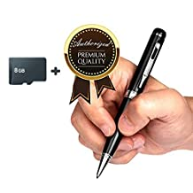 Mengshen 8GB High Quality Steel Spy Pen Camera 720P Full HD Hidden Pencam Digital Video Recorder/ Audio MS-HC18C