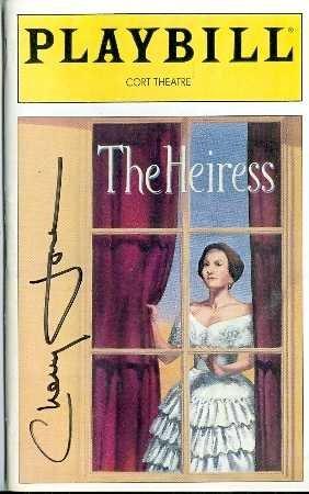 Cherry Jones autographed Playbill Program The Heiress Broadway Show