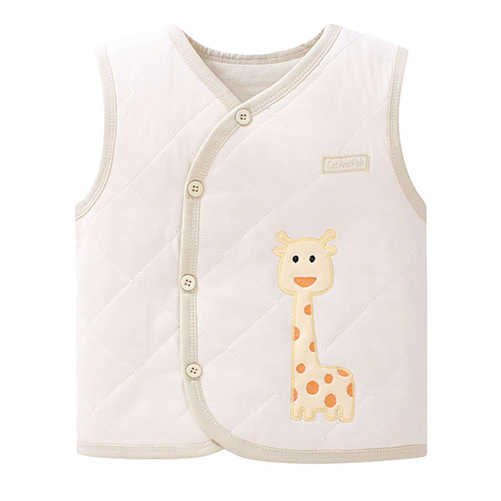 ThreeH Baby Vest Unisex Warm Cotton Soft Winter Padded Waistcoat BR127C H-BR127C