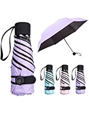 NASUM Mini Parapluie Pliant Ultra Léger Compact Portable Séchage Rapide Résistance aux UV Anti-Vent avec Boucle Hexagone en Silicone, pour Activités en Plein Air Golf Voyage Randonnée