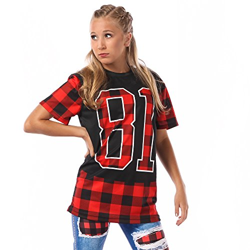 Alexandra Collection Womens 81 Flannel Crewneck Hip Hop Dance Costume Plaid Small