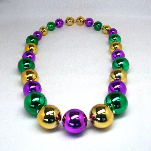 [JUMBO GIANT MARDI GRAS BEAD NECKLACE - 54 INCHES LONG!] (Jumbo Mardi Gras Beads)