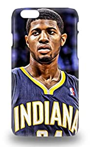 Snap On NBA Indiana Pacers Paul George #24 3D PC Case Cover Skin Compatible With Iphone 6 ( Custom Picture iPhone 6, iPhone 6 PLUS, iPhone 5, iPhone 5S, iPhone 5C, iPhone 4, iPhone 4S,Galaxy S6,Galaxy S5,Galaxy S4,Galaxy S3,Note 3,iPad Mini-Mini 2,iPad Air )