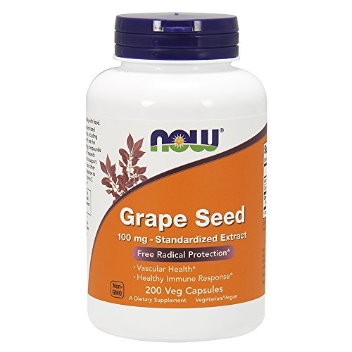 NOW Grape Seed Anti 100mg,200 Veg Capsules