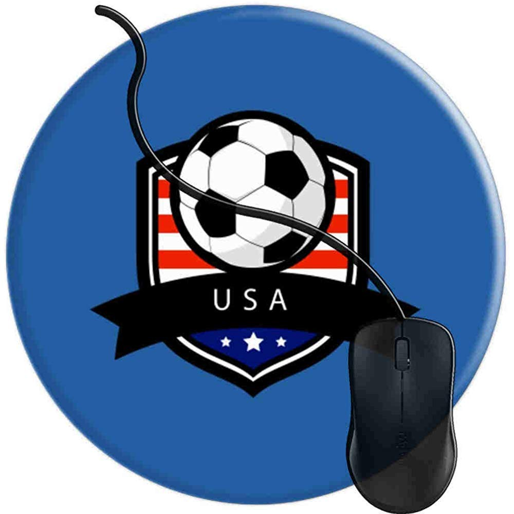 Alfombrilla para Ratón,Balón De Fútbol De EE. UU. Bandera ...
