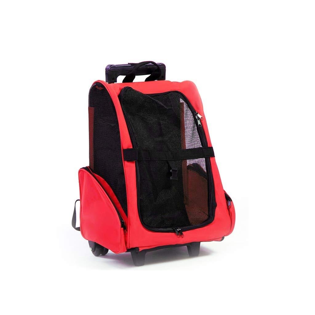 3  42x26x76cm 3  42x26x76cm MIAOLIDP trolley case back dog out portable travel bag cat backpack backpack pet supplies Pet cat carrier (color   3 , Size   42x26x76cm)