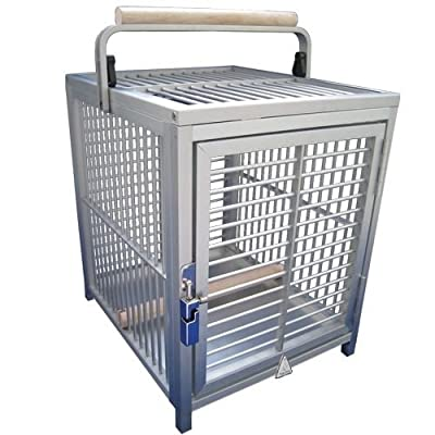 KINGS CAGES ATT 1214 ALUMINUM PARROT Bird Cage pet travel carriers cages toy toys by Kings Cages