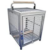 KINGS CAGES ATT 1214 ALUMINUM PARROT Bird Cage pet travel carriers cages toy toys (SILVER)