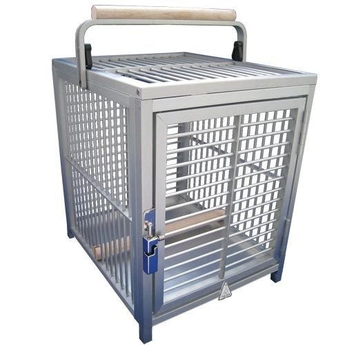 King's Cages ATT 1214 ALUMINUM PARROT Bird Cage pet travel carriers cages toy toys (SILVER)