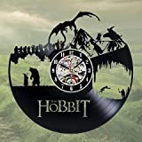 Hobbit Art Vinyl Wall Clock Gift Room Modern Home Record Vintage Decoration Review
