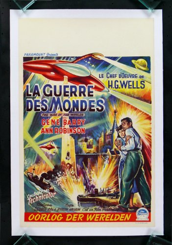 War of the Worlds Linen Backed Belgian Movie Poster