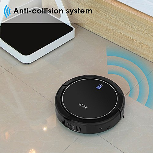 Amazon.com - INLIFE i7 Self Charging Robotic Vacuum Cleaner with Strong Suction, Drop Sensing Technology for Hard Floor and Low Pile Carpet (Black) -