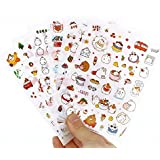 Inovat Cute Molang Rabbit Bunny Rabbit Charactor Sticker Diary Scrap Book Scrapbooking Decor Decoration 6 Sheets Lot Korean Stationery, Version 3rd