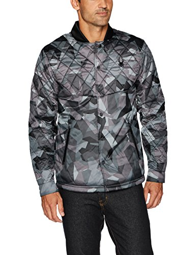 Spyder Men's Ouzo Shirt Insulator Jacket, Black Camo Print, X-Large