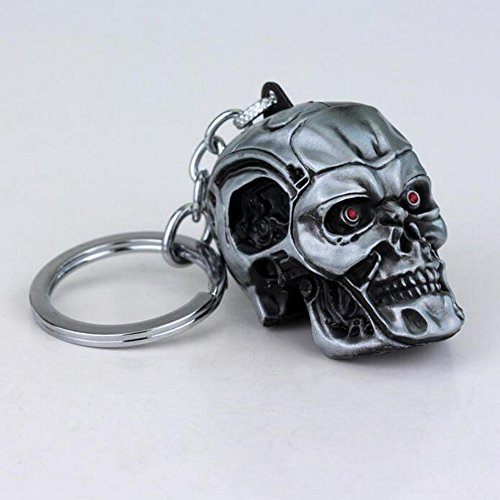 Key Skull Fob (ZJWEI Creative Motorcycle Bicycle Skull Key Chain Ring Keychain Keyring Key Fob 1pc)