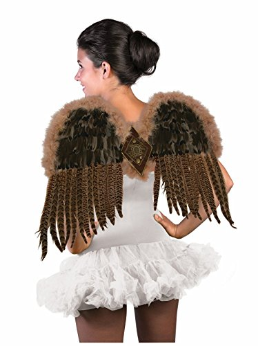 Forum Novelties Women's Exotic Feather Wings, Brown, One -