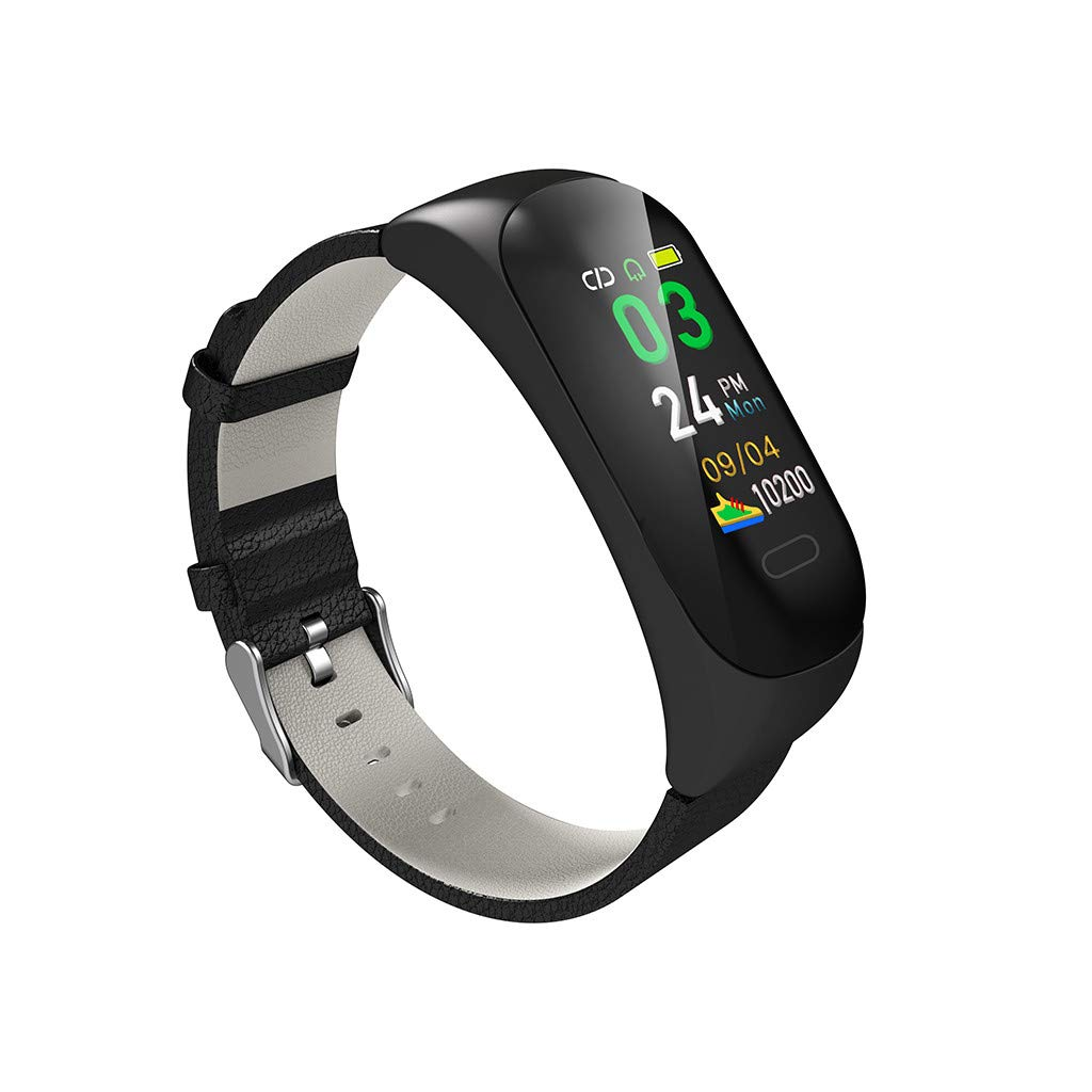 HHmei Smart Watch Bracelet Band Blood Pressure Heart Rate Monitor Waterproof Activity C15 Smart Bracelet (Gray) by HHmei